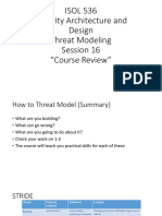 Threat Modeling 16wk Session 16b