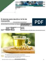 8 Razones Para Decirle Sí Al Té de Manzanilla _ Salud180