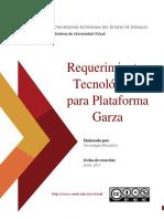 Requerimientos Para Plataforma Garza