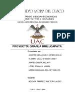 Granja Huillcapata (Avance Capitulo v)
