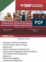 1. Derecho Privado y Pùblico. Derecho Civil. Patrimonial y Extrapatrimonial. Ubicacion de Las Obligaciones en El Derecho. (1)