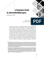 Desarrollo Humano Local - Alternatividad
