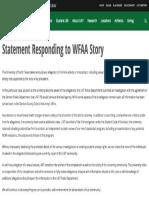 University of North Texas response to WFAA report