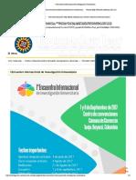 I Encuentro Internacional de Investigación Universitaria