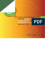 Estudio Sobre La Situacion Actual Del Software de Fuentes Abiertas en Las Universidades y Centros de I D 2009