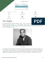 Biografia de Ciro Alegría