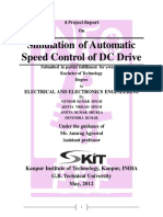 Simulation of Automatic Speed Control DC Drive