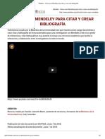 Eduteka - Cómo Usar Mendeley Para Citar y Crear Una Bibliografía