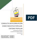 Consulta Anticorrupcion Perspectiva de Opinión Publica