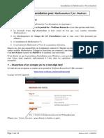 Mathematica-9 Notice D-Installation Pour Etudiants Aout13