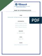 Informe de Epidemiología 1