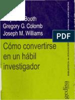 BOOTH et al - Cómo convertirse en un hábil investigador (2001, Gedisa).pdf