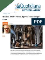 Non Solo Il Padre Nostro Il Personalismo Liturgico Divide
