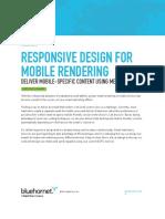 Responsive Design for Mobile
