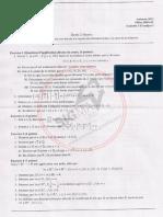 Examens Corrigés Thermo 1 FSA