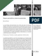 Frutos de, Ruth-Mujeres Periodistas Violencia Aumentada