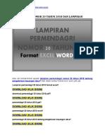 Permendagri Nomor 20 Tahun 2018 Dan Lampiran Download Excel PDF Word Ppt