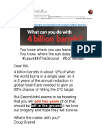 #ExxonKnows what it can do with 4 billion barrels of oil