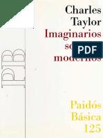 Imaginarios Sociales Modernos. Charles Taylor