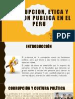 Corrupcion, Etica y Funcion Publica