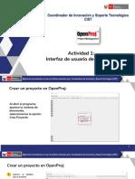 Actividad 1 Interfaz de Usuario de OpenProj