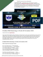 Prediksi Skor PSIS Semarang vs Persib