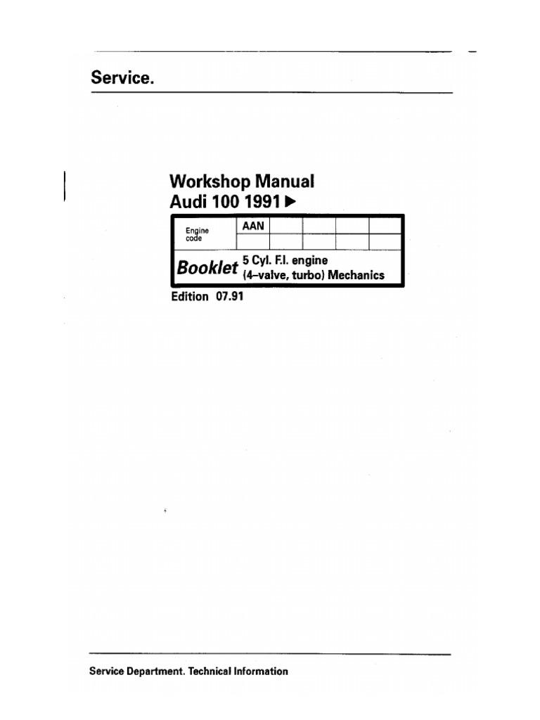 audi aan workshop manual daily instruction manual guides u2022 rh testingwordpress co Audi Allroad Problems Custom Audi Allroad