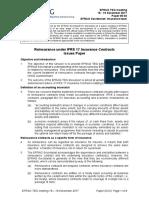05-03 Issues Paper on Reinsurance - TEG 17-12-18