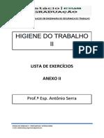 Lista de Exercícios Anexo II