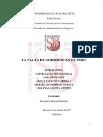 i.f. Falta de Gobierno en El Peru
