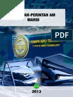 Perintah Perintah AM MARDI Edisi 2013