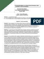 Ley Organica Chaco