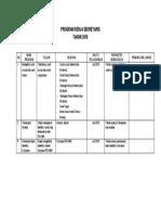 Program Kerja Sekretaris RSJHMK Bulan Juli 2018