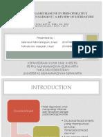Role of Dexamethasone in Peri-operative Anesthesia Management