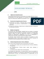 Esp.tecnicas Urb. Trebol, Corona y Planicie Del Fraile