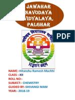 Jayesh Chemistry Project 1