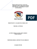 Actividad Final - Presupuesto Análisis Financiero -