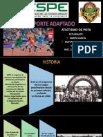 Atletismo Adaptado Mogollón Geovanny, García Karen