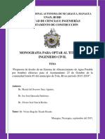 Diseño de a.p en Tola- Rivas