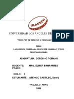 Informe Derecho Romano