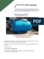 CEK DEH, WA +62 812-9627-2689, Harga Bio Septic Tank 2018