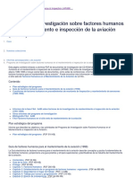 Programa de Investigación Sobre Factores Humanos en El Mantenimiento e Inspección de La Aviación