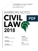 Warriors Civil law 2018