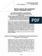 Entropy Production Analysis and Experimental Confirmation of Absorption Systems Chua 1997