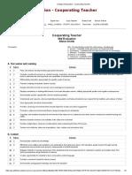 evaluation cooperating teacher