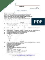 CBSE 2016 Class 12 Delhi Chemistry Question Paper