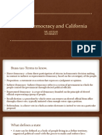 direct democracy and california