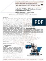 Investigation on Friction Stirs Welding of Aluminum Alloy and Copper Dissimilar Metals