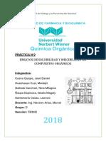 ENSAYOS DE SOLUBILIDAD Y MISCIBILIDAD EN COMPUESTOS ORGÁNICOS