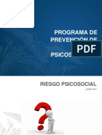 Presentación del Programa de Riesgos Psicosociales del Ministerio de Trabajo del Ecuador.